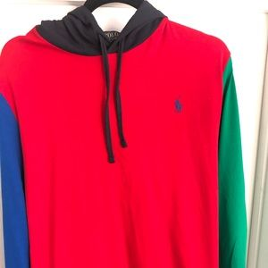 POLO Ralph Lauren Color Block hoodie Large NWT